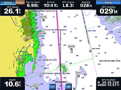 Garmin GPSMAP 2108 Plus Radar Overlay